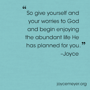 The Cause And Cure For Worry Everyday Answers Joyce Meyer Ministries